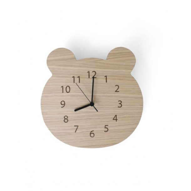 Mr Brown clock wood